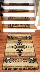 "Dean Premium Carpet Stair Treads - Santa Fe Beige 31"" x 9"" (Set of 13) Plus 50"" Landing Runner/Mat"
