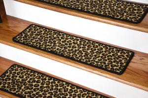 """Dean Premium Carpet Stair Treads - Leopard 30"""" x 9"""""""