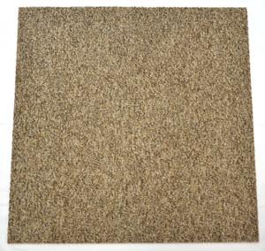 DIY Carpet Tile Squares - Beige & Brown Tweed