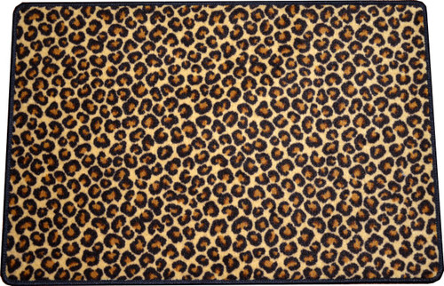 Dean Leopard Animal Print 2 X 3 Carpet Mat Accent Rug
