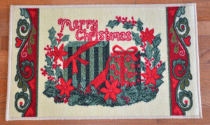 "Dean ""Presents"" Christmas Mat 18""x30"" with Non-Skid Rubber Back"