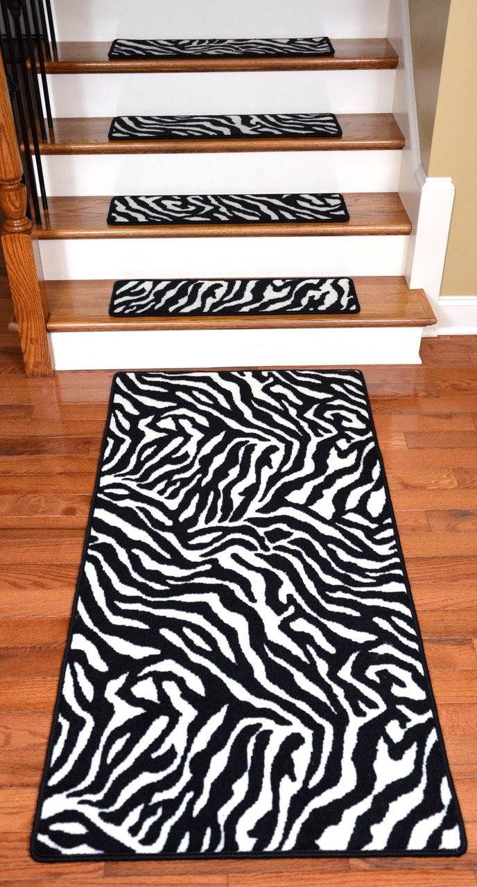 Premium Carpet Stair Treads Zebra 30 Quot X 9 Quot Plus A