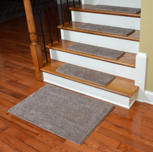 Dean Premium Super Soft 50 oz. Plush Carpet Stair Treads for Dogs (and People, too) - Hudson Tweed (13) with 2'x3' Landing Mat