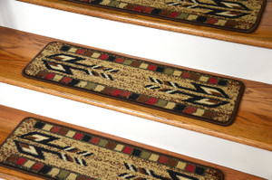 "Dean Premium Carpet Stair Treads - Santa Fe Beige 31"" x 9"" (Set of 13)"