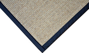 Dean All Natural Fiber Desert/Black Sisal Non-Skid Area Rug: 6' x 9'