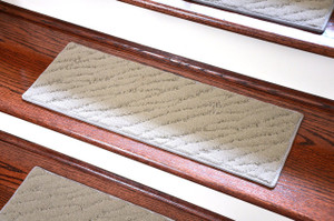 "Dean Light Gray Indoor/Outdoor Non-Skid Carpet Stair Treads/Runner Rugs 23"" x 8"" (Set of 3)"