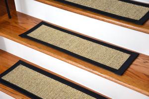Superbe Dean Attachable Non Skid Sisal Carpet Stair Treads   Desert/Black (Set Of