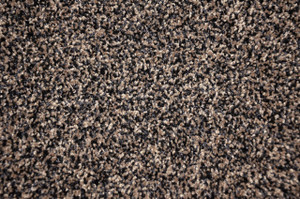 Black and Beige Tweed Plush 5' x 7' Serged Carpet Area Rug