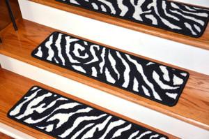 "Premium Carpet Stair Treads - Zebra 30"" x 9"""