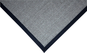 Dean All Natural Fiber Island Gray/Black Sisal Non-Skid Area Rug: 4' x 6'