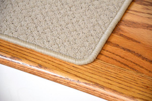 "Dean Premium Nylon Carpet Stair Treads - Pindot Beige 36"" x 9"" (Set of 13)"