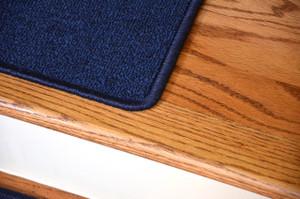 "Dean Serged DIY Carpet Stair Treads 27"" x 9"" - Navy Blue - Set of 13"