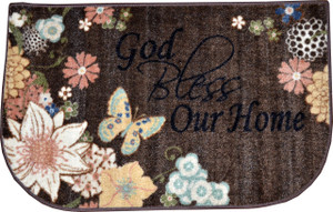 "Dean Washable Non-Skid ""God Bless Our Home"" Christian Faith Bible Verse Prayer Carpet Runner Mat/Rug 20"" x 32"""