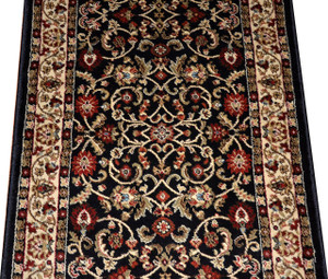 Dean Classic Keshan Ebony Custom Length Carpet Rug Runner - Purchase by the Linear Foot