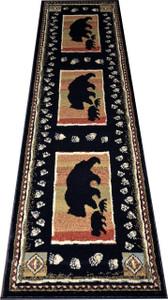 "Dean Black Bear Lodge Cabin Bear Carpet Runner Rug Size: 2'3"" x 7'7"""