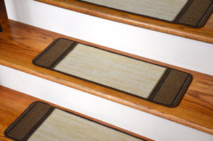 Washable Non-Skid Carpet Stair Treads - Boxer Beige (13)
