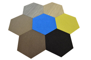 Dean Flooring Company Affordable Hexagon Shaped Commercial Carpet Tile - Random Assorted Colors - 45 Square Feet (12 Pieces)