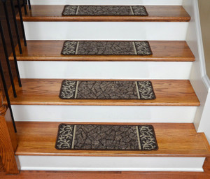 Dean Washable Non-Skid Carpet Stair Treads - Garden Path Brown (13)
