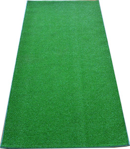 Dean Premium Heavy Duty Indoor/Outdoor Green Artificial Grass Turf Carpet Runner Rug/Putting Green/Dog Mat, Size: 3' x 6' with Bound Edges