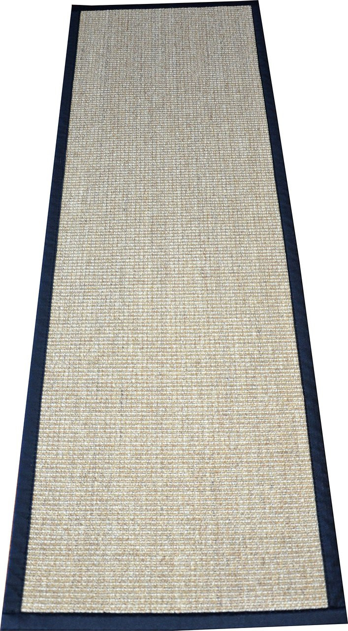 Dean Desert Black Natural Sisal Hall Entrance Landing Slip