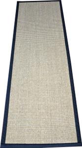 """Dean Desert/Black Natural Sisal Hall/Entrance/Landing Slip Resistant Carpet Runner Rug 29""""x12'"""