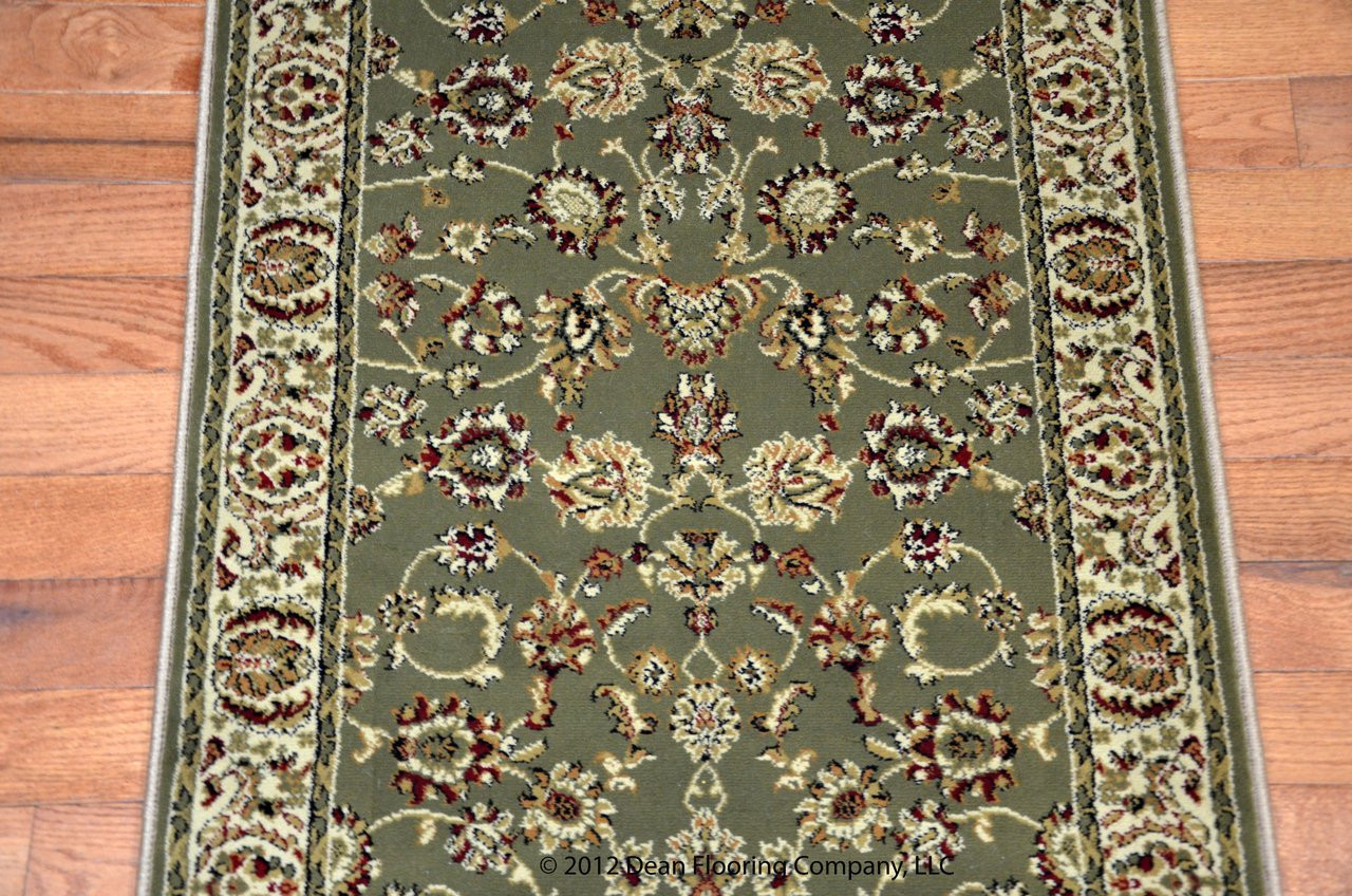 Dean Elegant Keshan Sage Carpet Rug Runner Purchase By