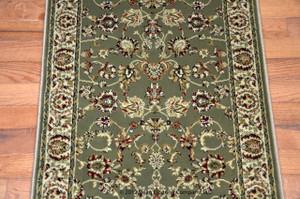 Dean Elegant Keshan Sage Carpet Rug Runner - Purchase by the Linear Foot