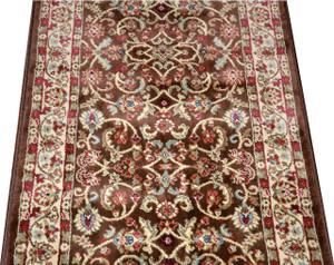 Dean Classic Keshan Chocolate Brown Custom Length Carpet Rug Runner - Purchase by the Linear Foot