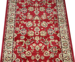 Dean Elegant Keshan Claret Carpet Rug Hallway Stair Runner - Purchase by the Linear Foot