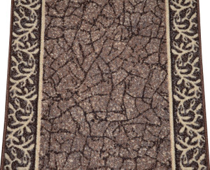 Dean Custom Length Washable Non-Skid Carpet Rug Runner - Garden Path Brown - Sold by the Linear Foot