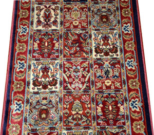 Dean Panel Red Carpet Rug Hallway Stair Runner - Purchase by the Linear Foot