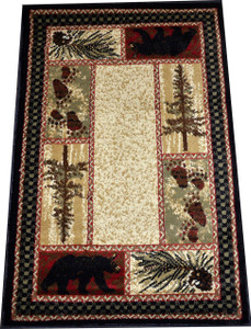"Dean Cade's Cove Bear Lodge Cabin Area Rug 5'3"" x 7'3"""