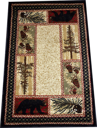 Dean Cade S Cove Bear Lodge Cabin Area Rug 5 3 Quot X 7 3