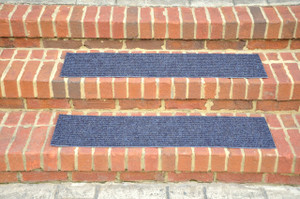 "Dean Indoor/Outdoor Non Skid Stair Treads - Blue 24"" x 9"" (3)"