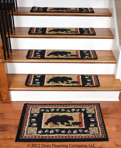 Black Bear Cabin Stair Treads And Landing Mat 13 Pk