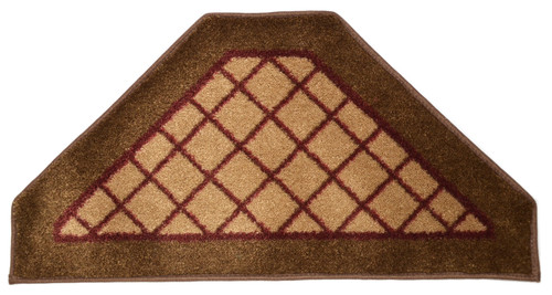 Beige Checkerboard Hexagon Carpet Stair Treads