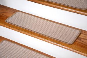 "Dean Premium Carpet Stair Treads - Kingsley Sand (Set of 13) 27"" x 9"""
