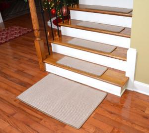 "Dean Premium Carpet Stair Treads - Kingsley Sand (Set of 13) 27"" x 9"" Plus 2' x 3' Landing Mat"