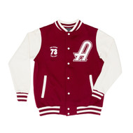 AC/DC High Voltage Varsity Jacket - Red and White