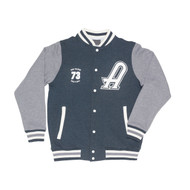 AC/DC High Voltage Varsity Jacket - Dark Marle and Grey