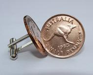 Australian Halfpenny Coin Cufflinks