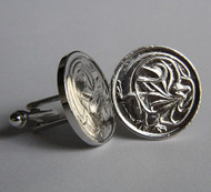 1975 Australian Sterling Silver Plated 2 Cent Coin Cufflinks – Birth Year 1975