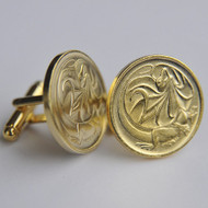 1989 Australian Gold Plated 2 Cent Coin Cufflinks – Birth Year 1989