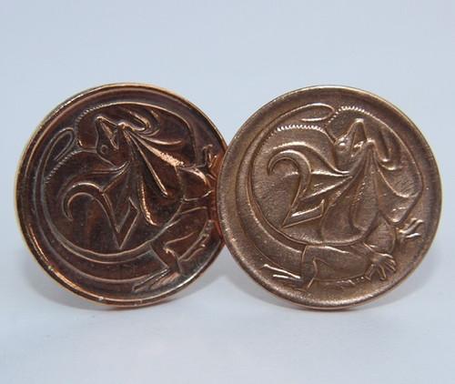 1974 birth year Australian-2-Cent-Coin-Cufflinks-Front-med-460-545