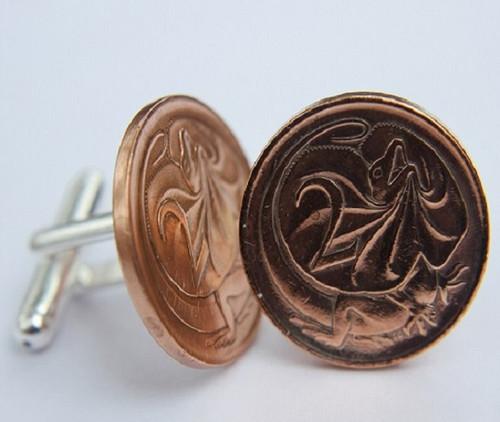 1973 birth year Australian-2-Cent-Coin-Cufflinks-Side-med-460x545