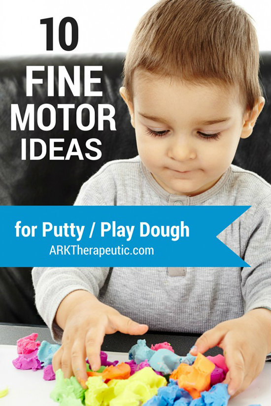 10 Fine Motor Exercises with Putty & Play Dough