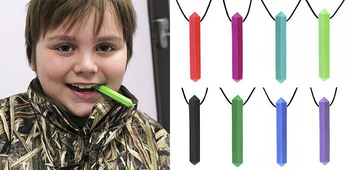 Autism Sensory Chews - ARK's Krypto-Bite™ Gem Necklace