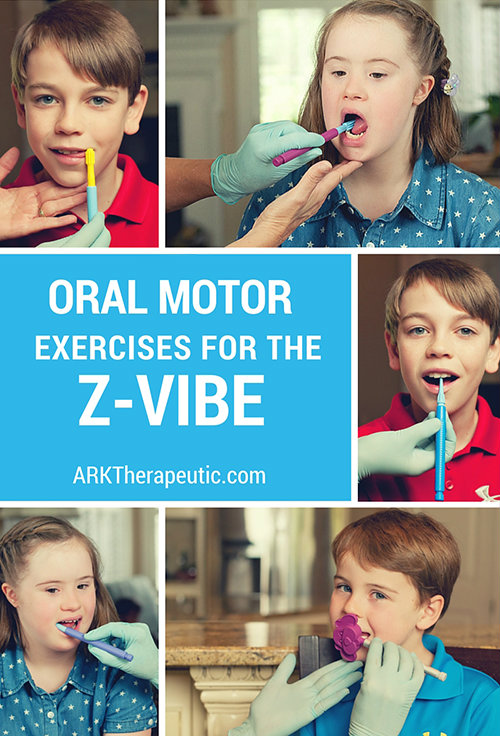 Oral motor exercises with the z vibe ark therapeutic for Oral motor speech therapy