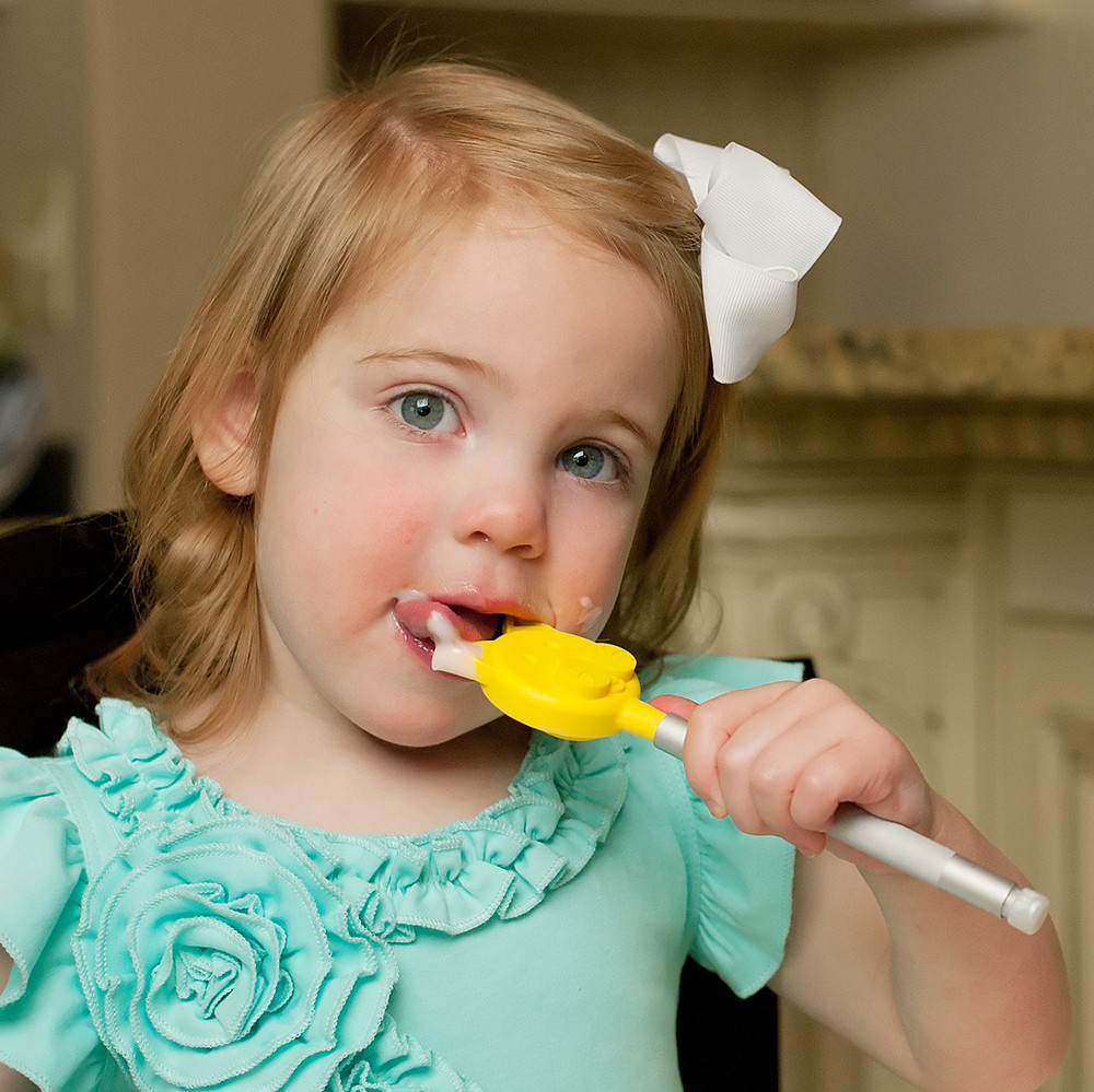 Dip them in puréed foods in feeding therapy