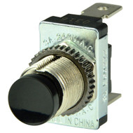 BEP Black SPST Momentary Contact Switch - OFF/(ON)